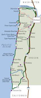 map of the oregon coast staying in portland for the weekend a trip to the oregon coast is