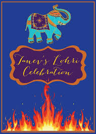 lohri invitation cards lohri bonfire indian punjabi baby celebration by molsdesigns 1st