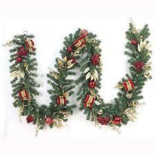 Outdoor Lighted Garland Christmas Garland Christmas Wreaths U0026 Garland The Home Depot