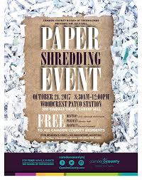 where to shred papers for free paper shredding camden county nj