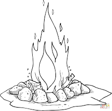 campfire coloring page itgod me