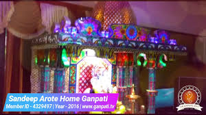 Home Ganpati Decoration Sandeep Arote Home Ganpati Decoration Video Www Ganpati Tv