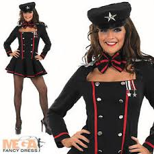 James Bond Costume Halloween Army Costume Ladies Russian Spy Military James Bond Womens Uniform