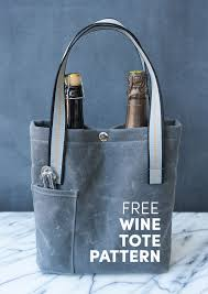 bag pattern in pinterest free double wine bottle tote pattern love free patterns and