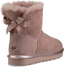 ugg womens boots bailey bow ugg s mini bailey bow ii metallic free shipping free