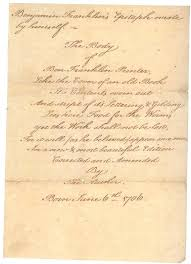 Society Letter Before Benjamin Franklin Letters To Manuscript Letter Manuscript Division