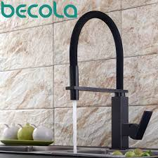 Brushed Brass Kitchen Faucet by Becola Design Brushed Nickel Kitchen Faucet Pull Out Down Kitchen
