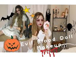 Halloween Baby Doll Makeup Tutorial by Evil Blood Doll Makeup Youtube