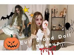 evil blood doll makeup youtube