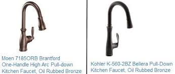 rubbed bronze kitchen faucet