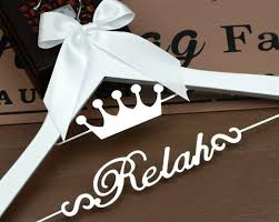personalized wedding hangers personalized wedding hangers or bridal hangers with metal names