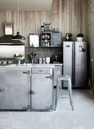 cuisine metal cuisine style industriel zinc et bois kitchens and lofts