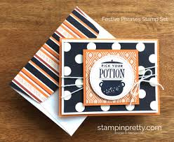 stampin up thanksgiving cards ideas stampin up festive phrases halloween card idea mary fish stampinup