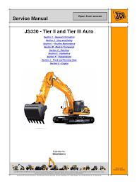 jcb js330 auto tier3 tracked excavator service repair manual