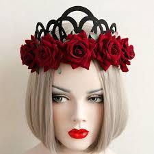 flower hair band 2018 elastic crown flower hairband in hair accessories
