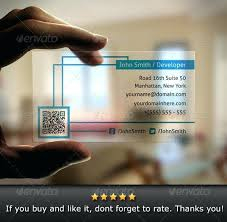 mesmerizing qr code on business card design translucent by