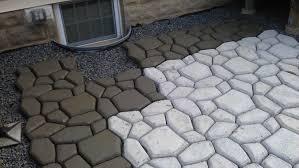 diy concrete patio ideas diy cobblestone concrete patio great appearance of cobblestone