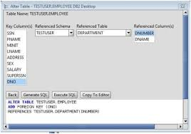 db2 alter table add column db2 add foreign key to db2 database tables via the alter table command
