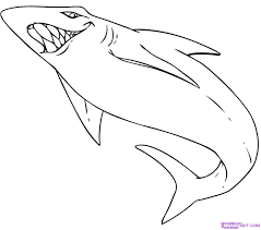 how to draw a cartoon shark step by step cartoon animals