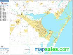 map of corpus christi corpus christi zip code wall map basic style by marketmaps