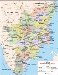 Map Of India Cities Tamil Nadu Travel Map Tamil Nadu State Map With Districts Cities