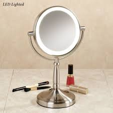 vanity mirror with led lights cordless led lighted 10x magnifying vanity mirror small bathroom