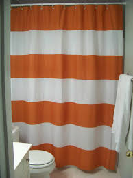 Orange White Curtains Orange And White Striped Shower Curtain Shower Curtains Ideas