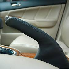 Accessories For Cars Interior Honda Accord 7 Handbrake Cover Car Styling Genuine Leather