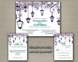 lantern wedding invitations violet invitations etsy