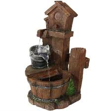 table top water fall indoor water fountain tabletop waterfall bucket led light decorative