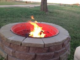 Horseshoe Fire Pit by Build A Tractor Rim Fire Pit For Your Yard Diy Projects For