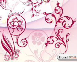 Flower Designs On Paper Hand Drawn Floral Set 22 Vector U0026 Photoshop Brushes Stock