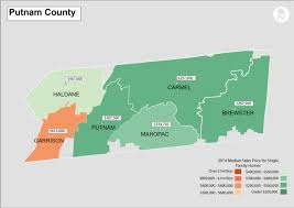 New York Counties Map Putnam County New York Real Estate Median Sales Price From 2014