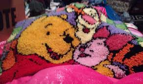 Latch Hook Rugs Homemade Latch Hook Rug Winnie The Pooh Tigger Piglet Disney Rug