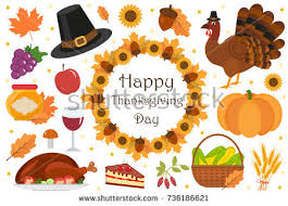 thanksgiving icons free vector stock