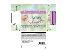 sulfur lavender soap 4 5 oz label