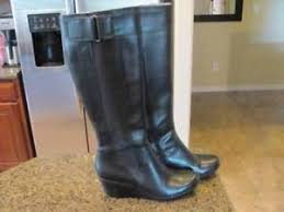 s heel boots size 11 kenneth cole womens knee highblack wedge heel boots size 11 free