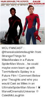 Caleb Meme - miles morales th ultimate caleb mclaughlin fan cast igi gdc marvel