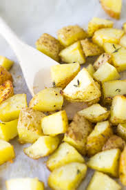 How To Cook A Potato In A Toaster Oven Garlic Butter Roasted Potatoes V Gf Jessica In The Kitchen
