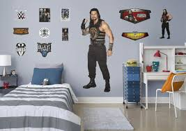 life size roman reigns fathead wall decal shop wwe fathead decor roman reigns fathead wall decal