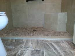 slightly raised shower floor and neo angled bench seat in master