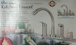 high rise kitchen faucet new corrego high rise kitchen faucet set commercial grade brushed