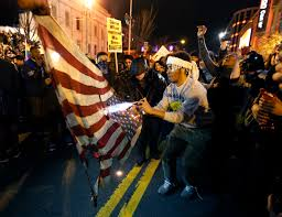Flag Of Baltimore Video Photos Capture Ferguson Protesters Burning American Flags