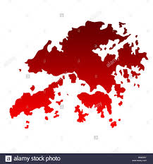 Map Of Hong Kong Map Of Hong Kong Islands In Gradient Red Isolated On White Stock