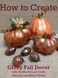 how to create harvest pumpkins and acorns using martha stewart
