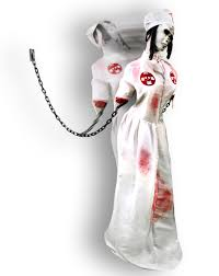 lunging lily spirit halloween convulsing nurse animated decoration u2013 spirit halloween evil