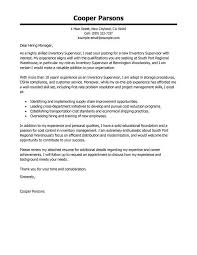 cover letter examples for supervisor position best security