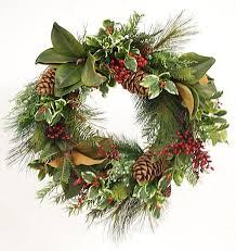 winward silks pine magnolia wreath reviews wayfair