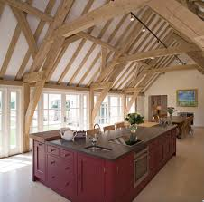 red barn kitchen atticmag red barn kitchen crimson cabinets on a large island house a prep sink induction