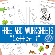 letter t worksheets free kids printable